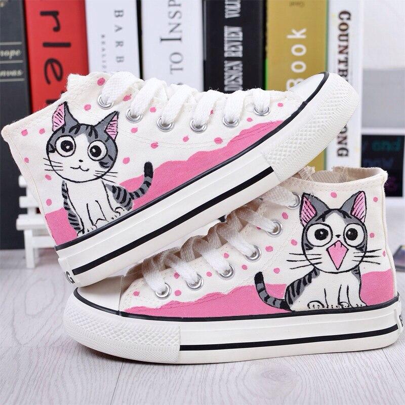 scarpe converse gatto