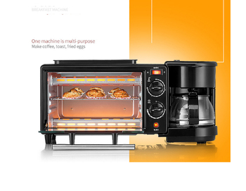 Breakfast machine Household Electric Oven Coffee machine Frying and cooking 3 in1 Household appliances