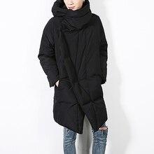 Брендовая зимняя куртка мужская черная необычная Парка мужская Толстая теплая парка пальто Военная куртка мужская куртка с хлопковой подкладкой Размер M-XL