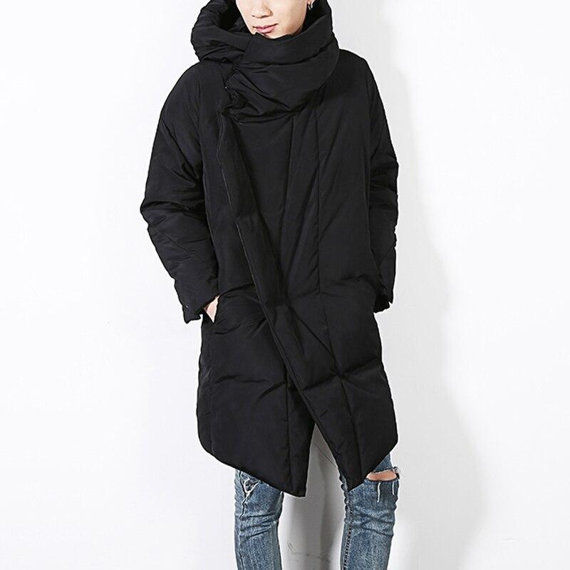 2019 Brand Winter Jacket Men Black Irregular Parka Men Thick Warm Parka Coat Military Jacket Cotton-Padded Men's Coat Size M-XL
