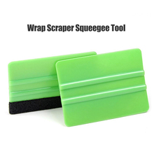 1pcs Felt Edge Squeegee Car Vinyl Wrap Application Tool Scraper Decal For Car Foil Square Scraping no sticker Car-styling