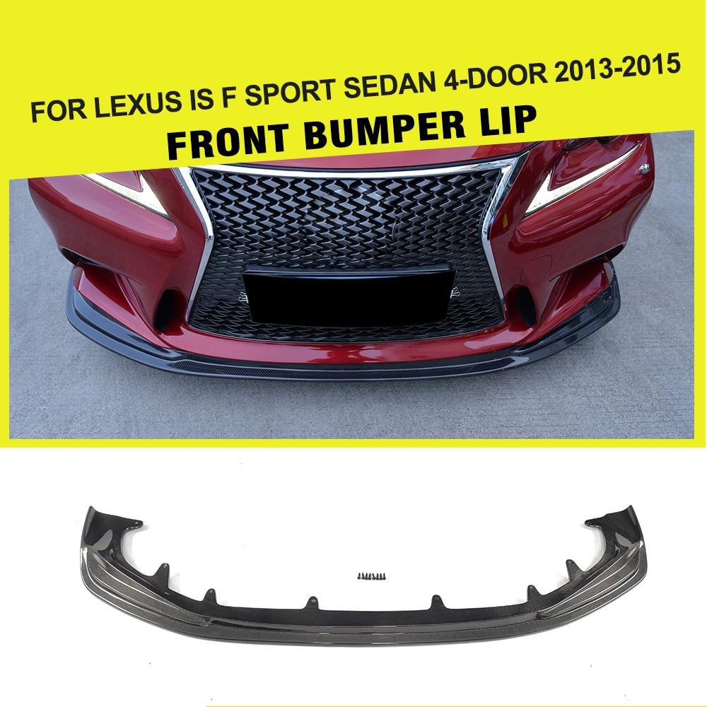 Carbon Fiber / FRP Front Bumper Lip Spoiler Chin Flap Car Styling for LEXUS IS F Sport Sedan 4-Door 2013 - 2015 carbon fiber front lip spoiler for volkswagen vw jetta gli mk6 sedan 4 door 2013 2015 black frp car styling
