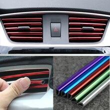 U Shape DIY Car styling Interior Air Vent Grille Outlet Decoration Strip For Chevrolet Cruze Orlando Lacetti Malibu Volt Camaro