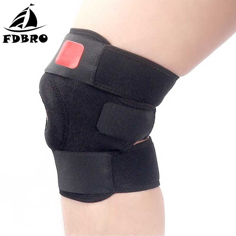 FDBRO Adjustable Elastic Knee Pads Sports Knee Brace Support Football Camping Running Boxing Knee Protector Elbow Kneepad Safety