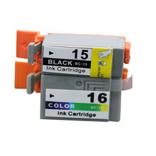 2PK BCI-15 BCI-15/16 Inkjet Cartridge Compatible for Canon  i70 i80 SELPHY  Printer Ink Cartridges