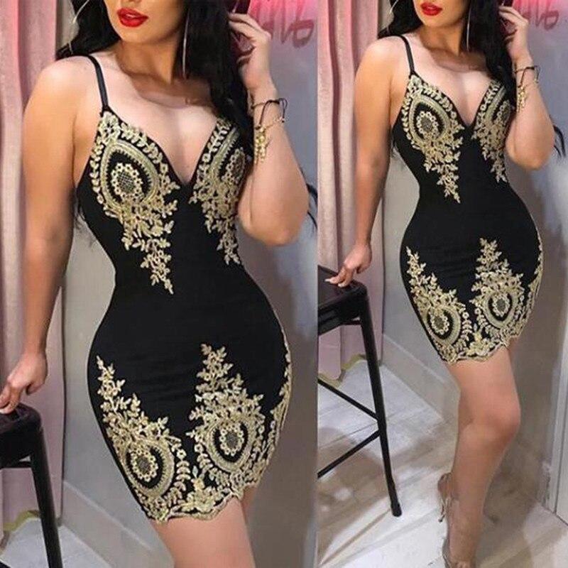 Модное летнее черное лидер продаж, пикантное кружевное облегающее платье на бретельках с V-образным вырезом и открытой спиной, одежда для но...