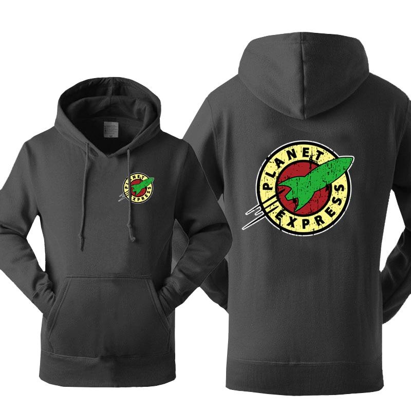 Planet Express Hoodie Men Black Cool Hoodies 2019 New Spring Autumn Hooded Sweatshirts Hip Hop Streetwear Harajuku Sportswear