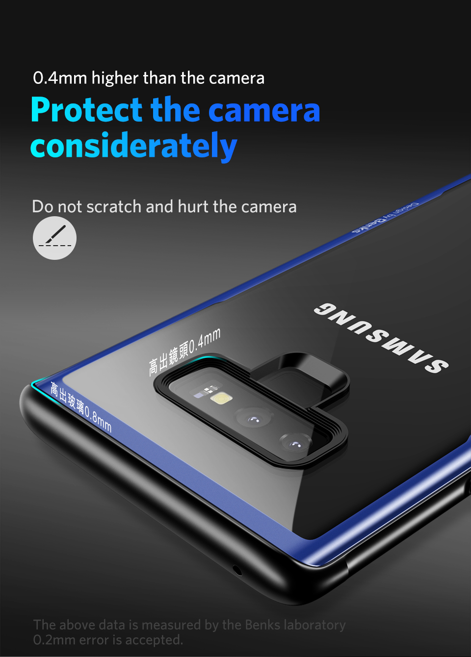 US $10 11  Benks For Samsung Galaxy Note 9 Case Soft Silicone Frame Back  Cover Tempered Glass Mobile Phone Case For Samsung Note 9 0 7MM-in Fitted