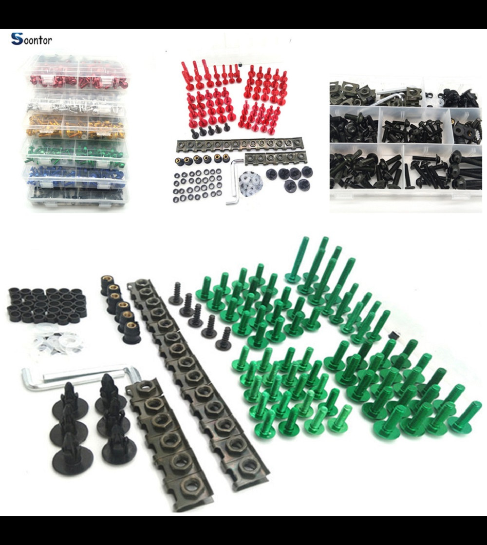Motorcycle Accessories Fairing Body Bolts set Kit Fastener Clips Screw Nuts For HONDA CRF1000L XR650R YAMAHA R6S EUROPE VERSION цены
