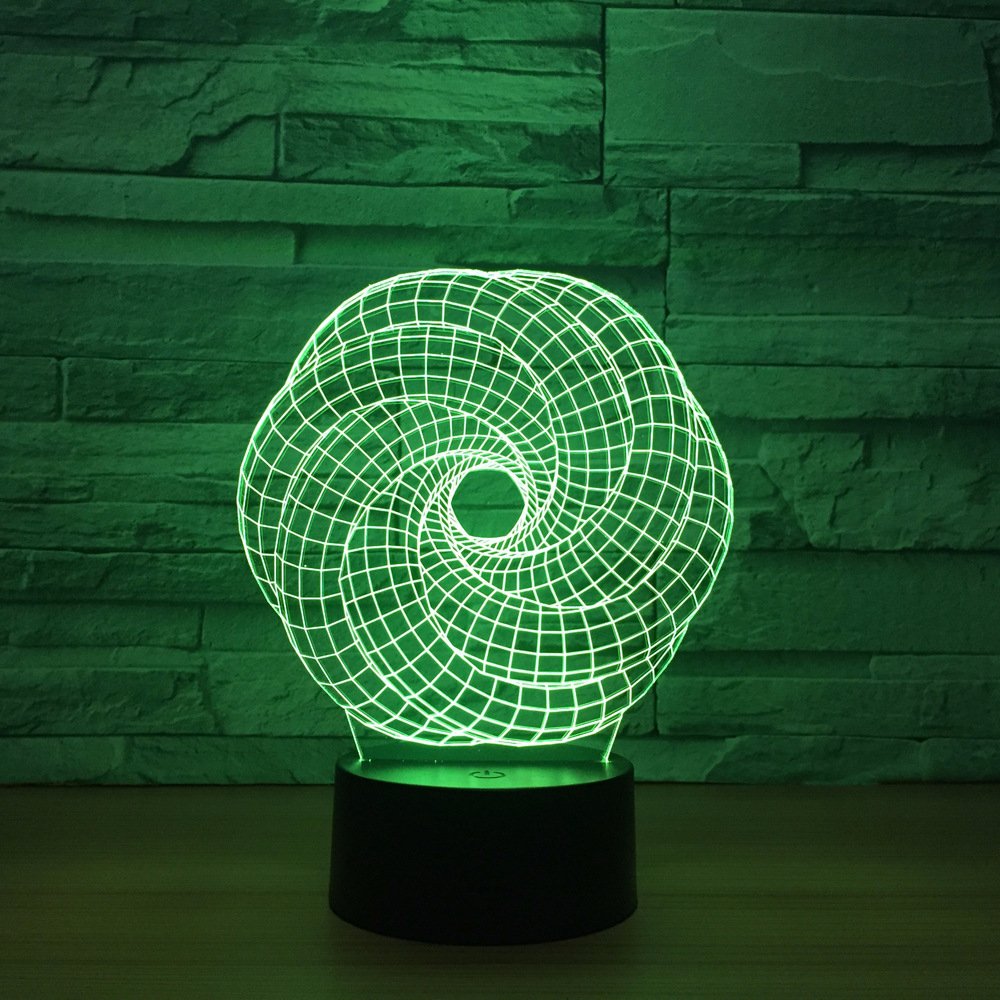 Gifts Abstract 3d Colorful Led Night Light Remote Touch Switch  Lovely 7 Color Change 3D Lamp Christmas Decorations Gift
