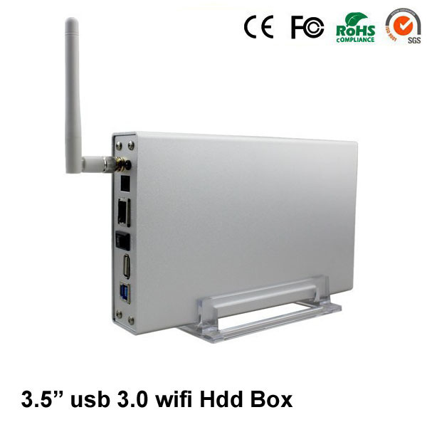 blueendless aluminum enclosure 3.0 usb 3.5'' 6TB SATA  tray with wifi hdd frame free shipping U35WF