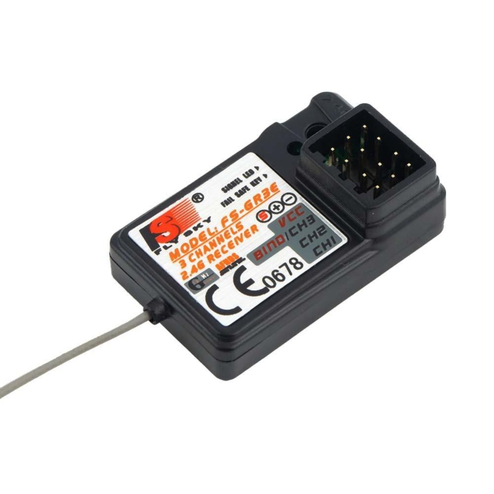 flysky FS-GR3E 2.4G 3CH Receiver w/ Failsafe FS GT3C GT3B GT2 RC Car Boat NEW new 3ch 2 4ghz gfsk3ch flysky fs gr3c gr3c gt2 gt3b failsafe receiver for auto rc ship gt3b for remote control toys