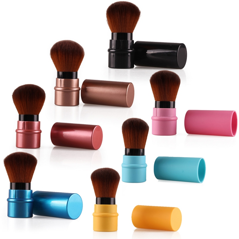 New Design 1Pcs MIni Soft Makeup Brush Retractable Pro Foundation Cosmetic Blusher Face Powder Brushes Beauty Tools 1pcs makeup brushes foundation flawless powder puff blusher cosmetic cleaning tools for makeup brush maquiagem soft brushes