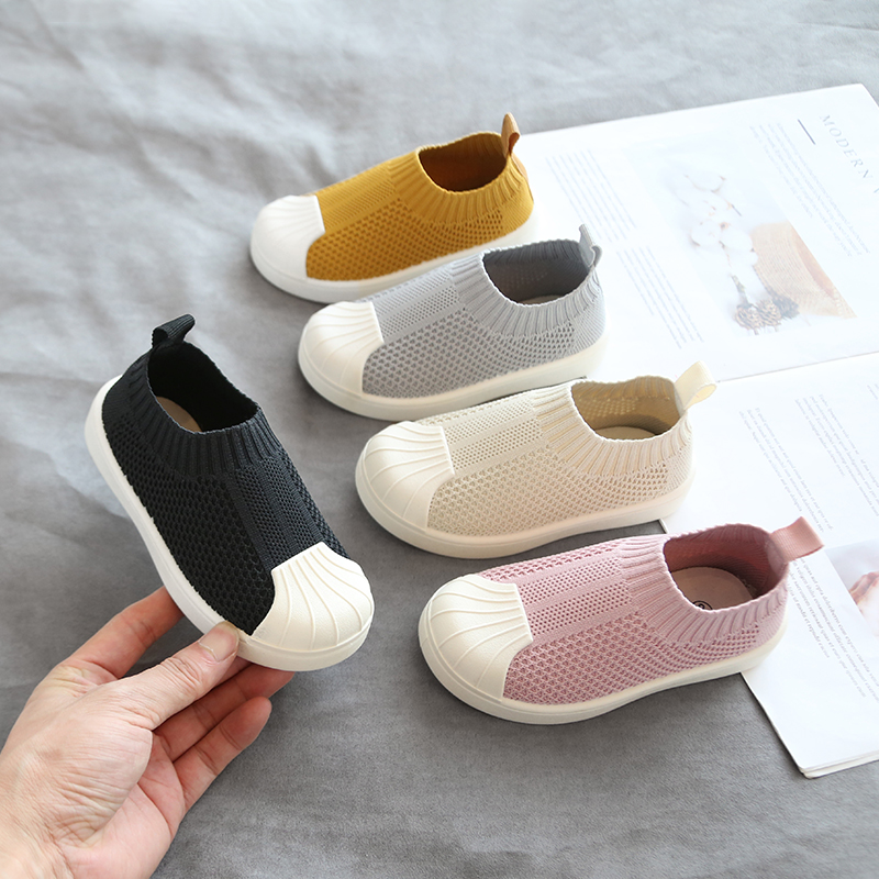 2019 Infant Toddler Shoes Autumn Baby Girls Boys Casual Shoes Soft Bottom Comfortable Non-slip Outdoor Children Knitted Shoes