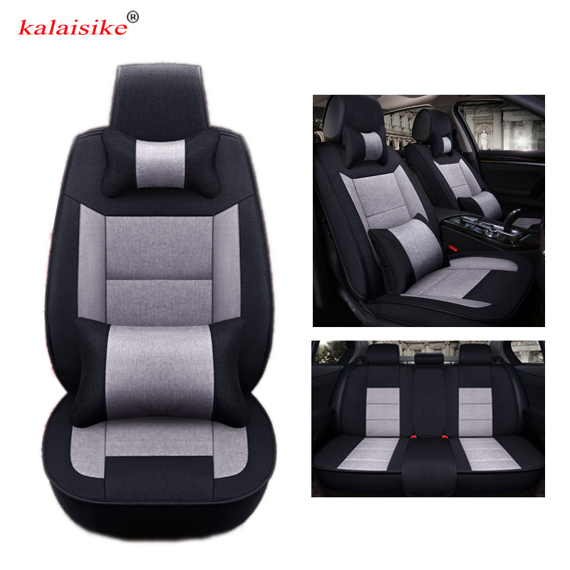 Kalaisike Flax Universal Car Seat covers for Audi all models A4 A6 Q3 Q5 A3 Q7 A5 A1 A7 S6 S8 S7 SQ5 car styling accessories