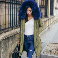 2016 new fashion winter white duck down jacket big raccoon fur color with hat thick keep warm coat outwear belt slim girl jacket