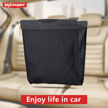 E-FOUR Line Car Garbage Bag Vehicle Rubbish Container Back Seat Hanging Auto Organizer Waterproof Storage Bag Interior Accessory
