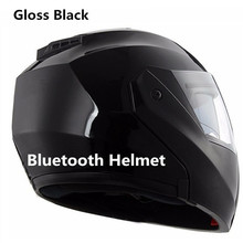 Motorcycle Helmet Intergrated Modular Flip up Dual Visors Bluetooth Helmets With  Radio Headset Intercom Communication DOT