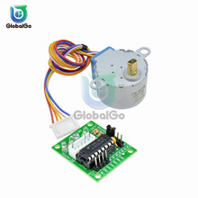 цена на Mini DC Step Motor 28BYJ-48 DC5V DC12V 4 Phase DC Gear Stepper Motor ULN2003 Driver Board for Arduino DIY Kit