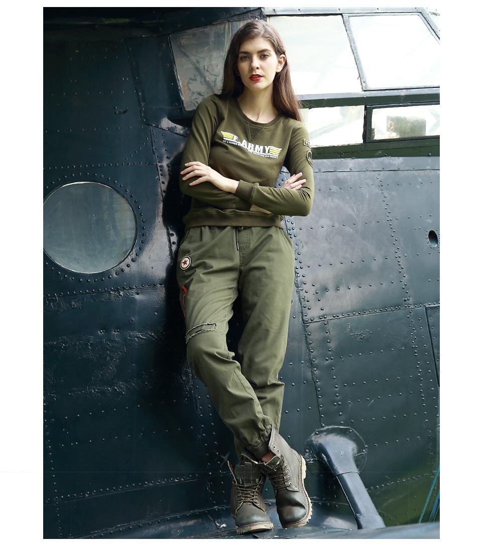 Army United 新秋パンツ女性 迷彩ズボン弾性ウエストズボン女性四カラーアンクル丈パンツの女性のの服 7