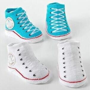 0-1 Jaar Pasgeboren Driedimensionale Sokken Jongen Meisje Gestreepte Kniekousen Baby Deodorant Zweet-absorberende Katoen Jacquard Sok