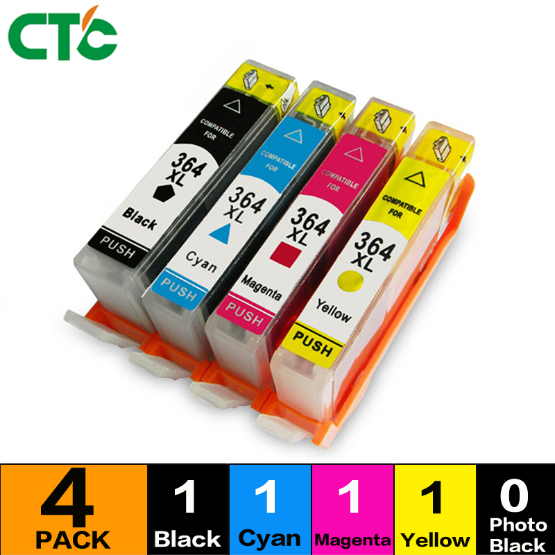 4pcs Ink Cartridge Compatible For 364 364 XL For 3070A 3520 3522 4620 4622 5511 5512 5514 5515 5520 5522 5524 6515
