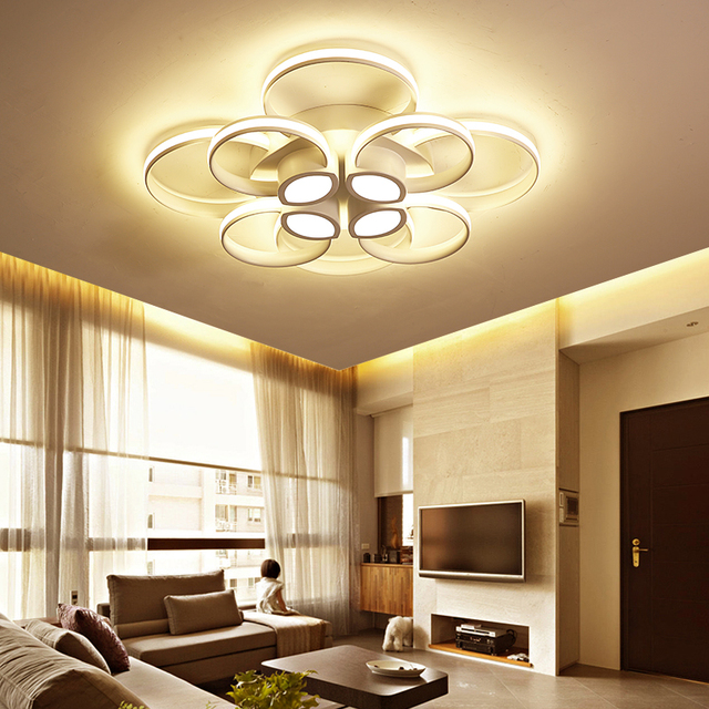 modern chandeliers for living room. rings white finished chandeliers LED circle modern chandelier lights for living  room acrylic Lampara de techo