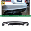 Z-ART Car Carbon Fiber Rear lip Diffuser spoiler for BMW 1Series E82 M tech M Sport Bumper 2008-2011 high quality