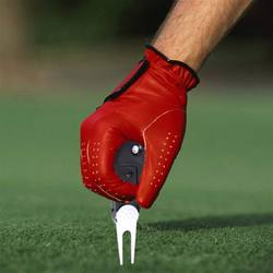 Dropship 1 шт. Divot гольфа инструмент для ремонта шаг Switchblade очиститель для гольфа вилы принадлежности для гольфа положить зеленый вилка
