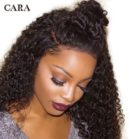 Kinky Curly Wig Glueless Pre Plucked Full Lace Human Hair Wigs For Women With Baby Hair Brazilian Human Hair Wig Remy 130% CARA