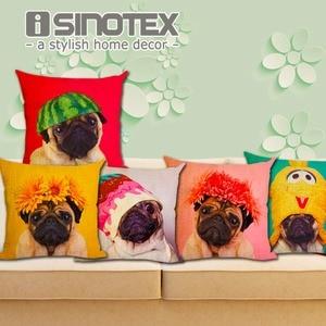 Animal Cushion Cover Dog for Children Christmas Decorative for Sofa Throw Pillow Car Chair Pillow Case Almofadas New Year Gift