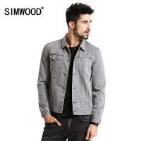 SIMWOOD 2017 New Spring Fashion Denim Jacket Men Fashion Vintage Slim Fit Brand Clothing NJ6519