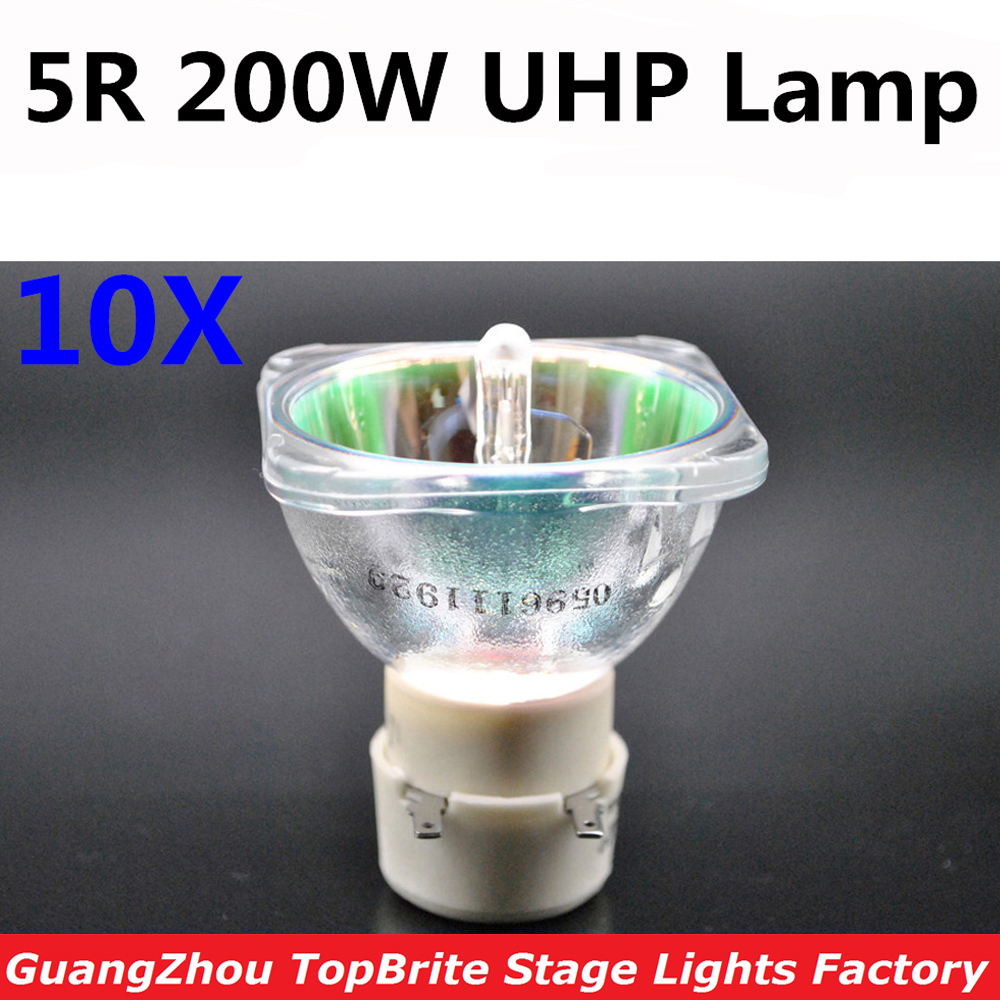 10XLot Free Shipping 200W Lamp MSD Platinum 5R UHP Bulb For Beam 200W Sharpy Moving Head Beam Light Bulb DJ Disco Party Lights