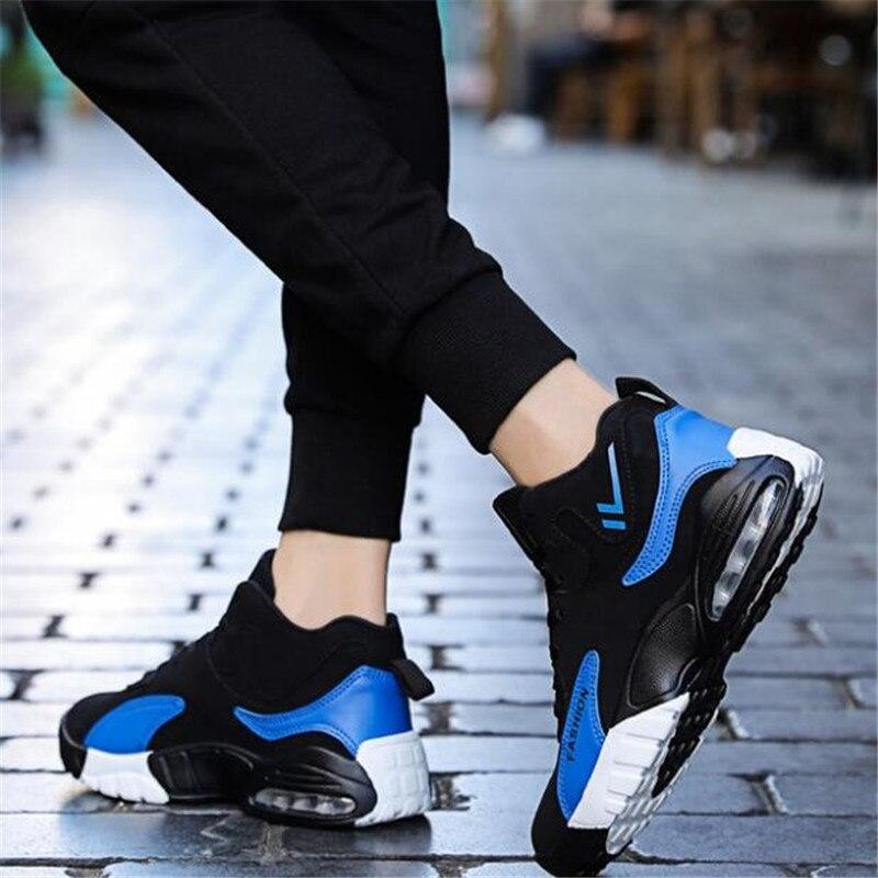2019 Moda Otoño blue Zapatos Hombres Marcas Desgaste Al Los Nuevas Hombre Resistente Deporte Zapatillas Sapatilhas Red Ocio white Suave E Cómodos De Invierno Casuales Ergwr5
