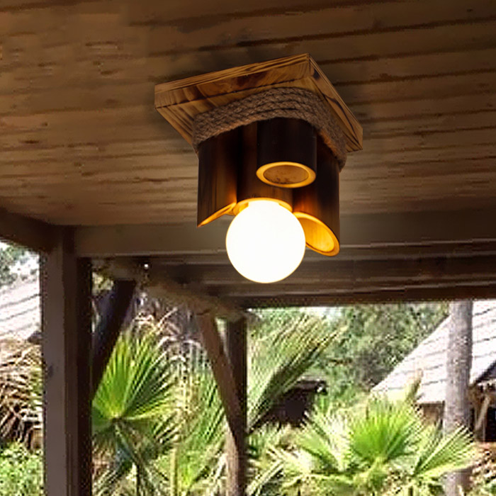 Здесь можно купить  Ceiling lights Lamps American Country Retro Creative Bamboo hanging lamp Corridor Balcony light  Строительство и Недвижимость
