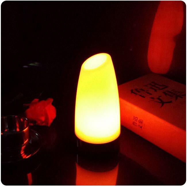 7 Změna barvy 90 * 190 mm ABS Materiál baterií napájený noční klub osvětlení dekorace osvětlené led stolní světlo 1ks