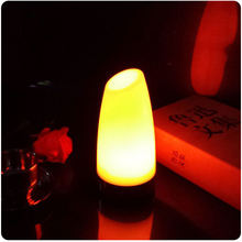 7 Color Changing 90 * 190 mm ABS Material battery powered night club lighting decoration illuminated led table light 1pc