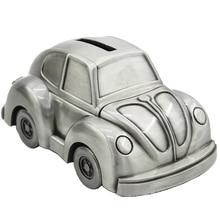 SaiDeKe Retro Metal cute Car model Piggy Bank Saving Coin Money Box Organizer storage tank Birthday christmas kids toy gifts