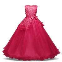 Girls Dress Pink Party Sleeveless Princess Dresses Christmas Birthday Wedding Dress Tutu Dresses For Girls Costume 4y 14y