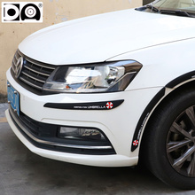 Car Anti-collision Strips Bumper Protector Edge Corner Guard 2 pcs Black/White in car-styling mouldings for Volkswagen series