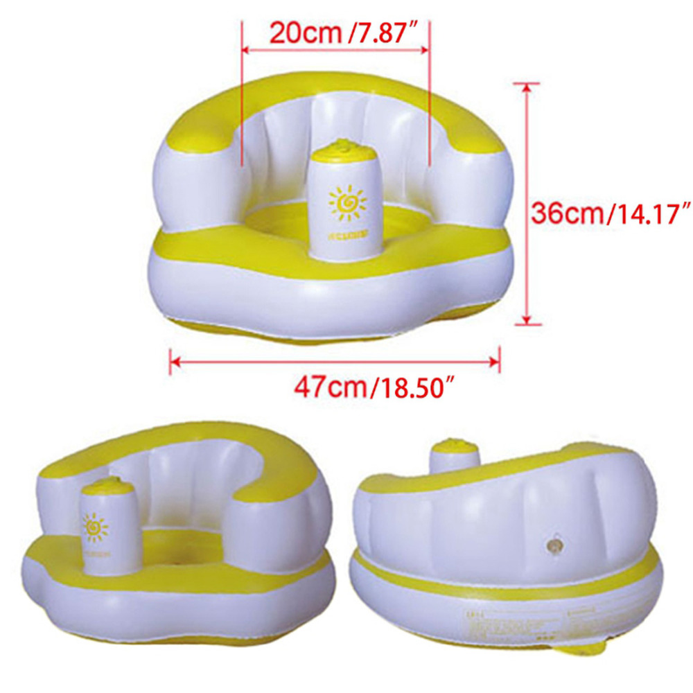 Baby Shower Chair PVC Inflatable Kids Shower Folding Seat Portable ...