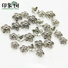 8/11 Millimetri in Lega di Zinco D'argento Del Fiore Star Spacer Beads End Caps Pendenti E Ciondoli per Monili Che Fanno Braccialetto Accessori 848(China)