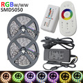 10m 600leds RGBW/RGBWW Flexible LED strip SMD5050 60leds/m tape ribbon dc12V+ 2.4G RF Remote Controller + 6A Power supply Kit
