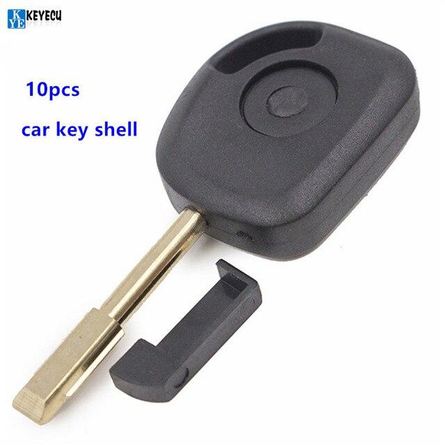 Keyecu Pcs Replacement Shell Transponder Key Case Fob For Ford Focus Mondeo Ka Jaguar S