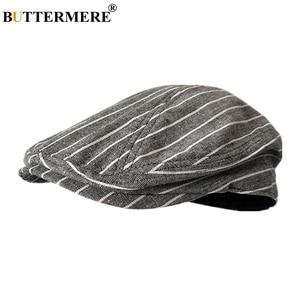 Image 5 - Buttermere 古典的なフラットキャップ男性チェック柄駆動キャップ男性ライトグレーヴィンテージカモノハシアイビー帽子夏英国帽子とキャップ