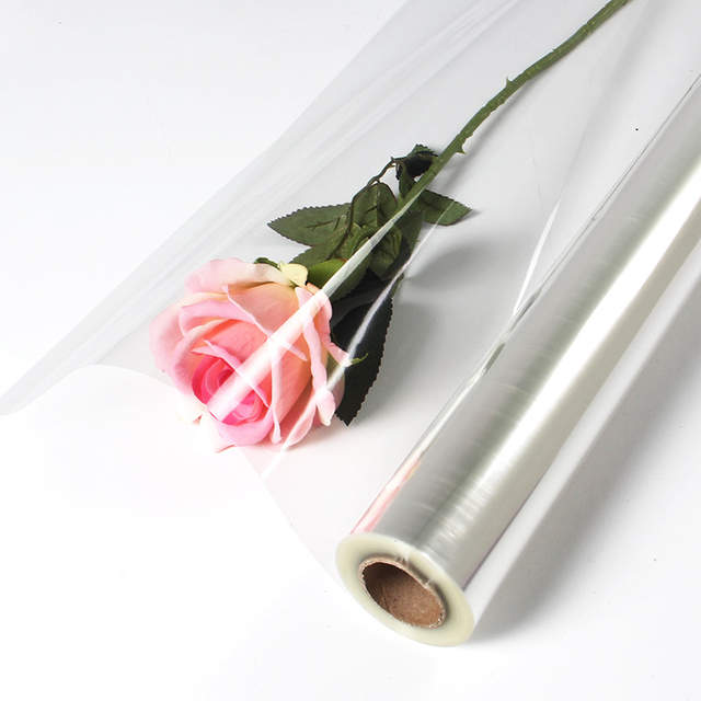 Us 32 14 30 Off 0 6mx50m Clear Cellophane Wrap Roll Transparent Opp Plastic Wraps Flower Fruit Basket Gift Packing Paper Material In Craft Paper