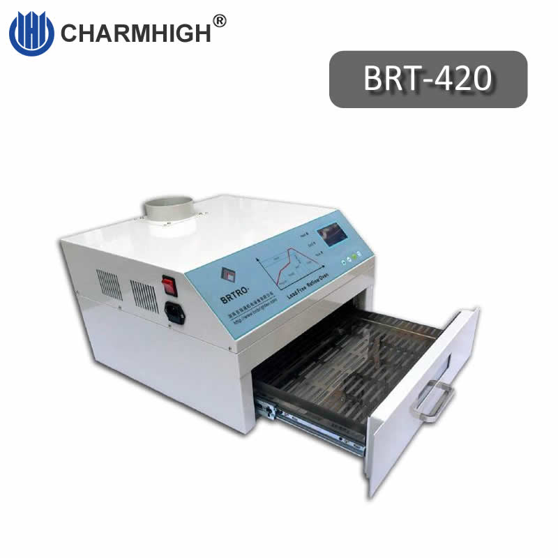 Discount 2500w Mini Reflow Oven BRT 420 300 300mm Hot air Infrared BGA SMD SMT Rework