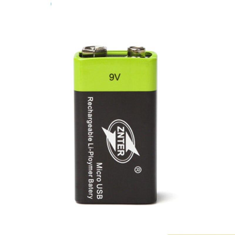 USB Aufladbare 9 V Lipo Batterie ZNTER S19 9 V 400 mAh RC Batterie Für mikrofon und RC Kamera-drohne zubehör