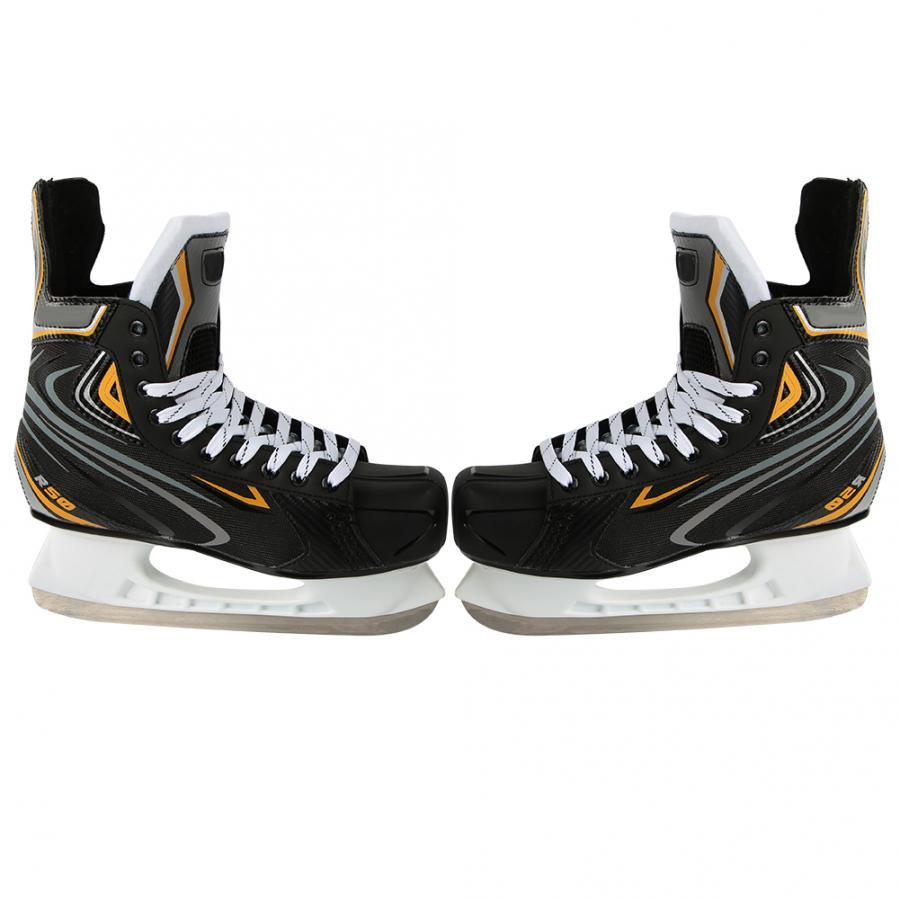 Adults Unisex Ice Hockey Skates Shockproof Ice Skating Shoes Speed Skating Training Anti-sprain Shoe Ice Sports Accessories