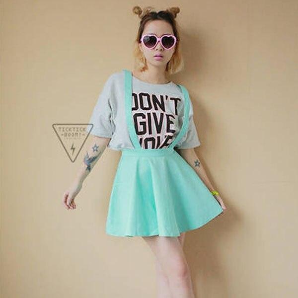 9438607aa2 Women Suspender Skirt Pastel Skater Flared Pleated Skirts Belt Waist Women  Summer Clothes
